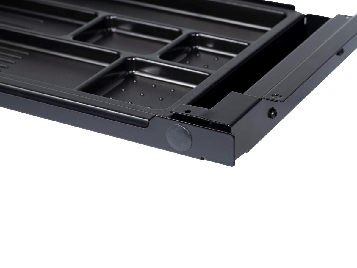 ErgoFount PTS8725B - Выдвижной ящик-органайзер для канцелярских принадлежностей и ноутбука под стол, большой, черный