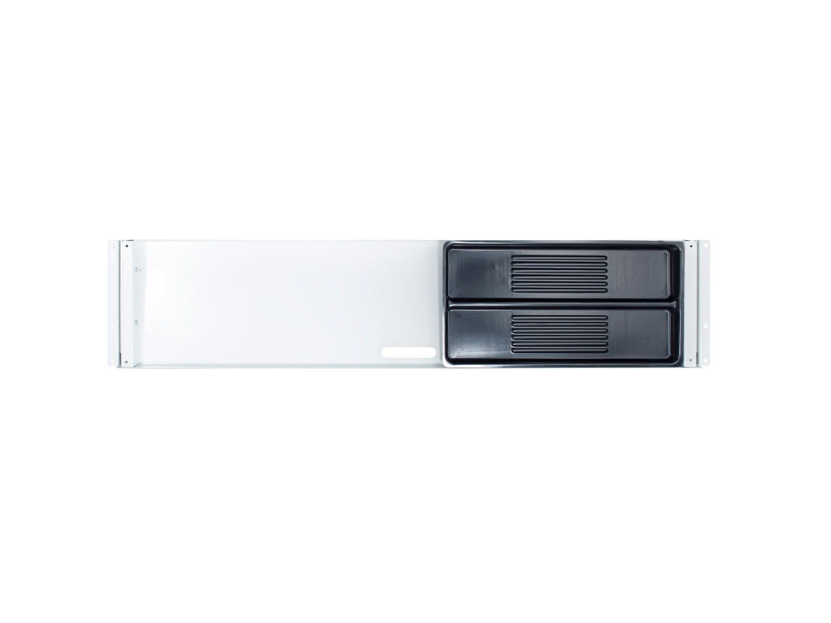 ErgoFount PTU8718W - Выдвижной ящик-органайзер для канцелярских принадлежностей под стол, большой, неглубокий, белый