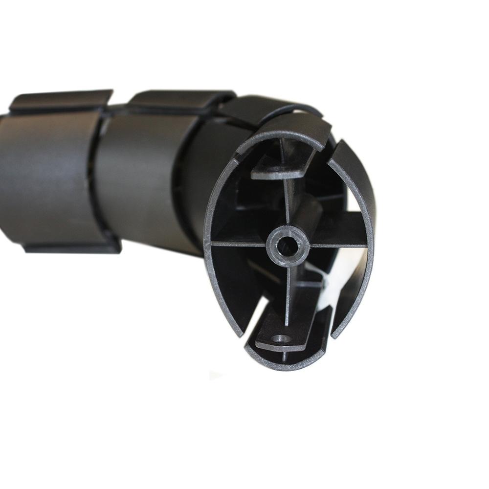 Kondator 429-OP50B - Вертикальный гибкий пластиковый кабель-канал, 1252 мм, черный
