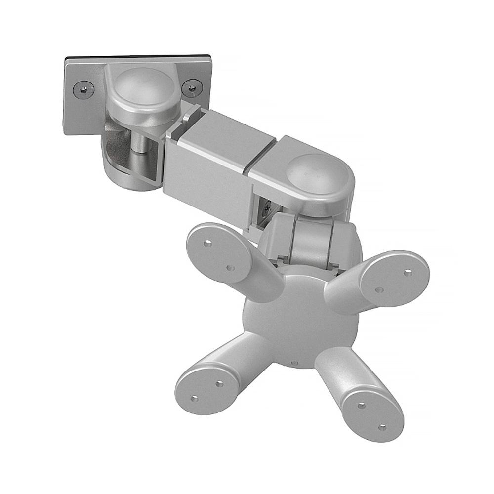 Kondator 438-L18P - Шарнирный кронштейн серии Conceptum для 1 монитора, макс. нагрузка 8 кг, серебристый