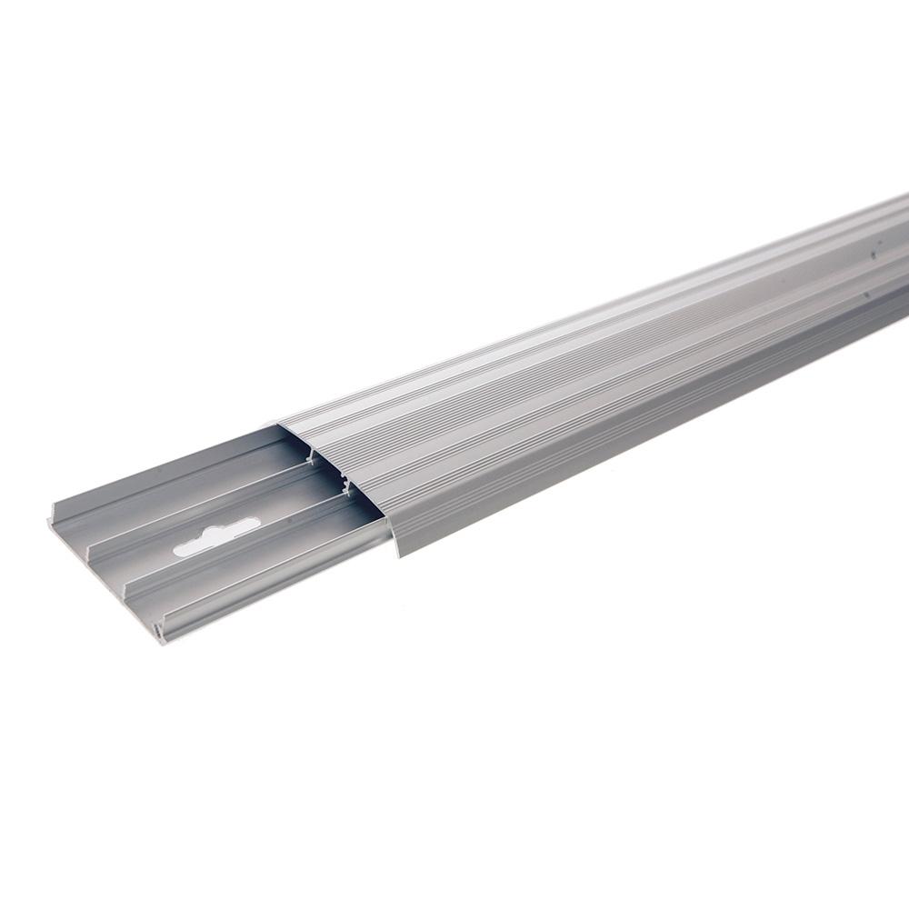 Kondator 429-2500 - Алюминиевый напольный кабель-канал, 2500 мм, серый