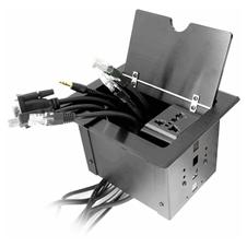 Qtex MDM-440 - Настольный модуль кабельных подключений с откидной крышкой