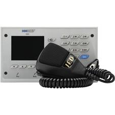 Atlas IED IEDA528HFME-H - Настольная микрофонная 20-кнопочная станция с цветным дисплеем для системы GLOBALCOM с блоком расширения