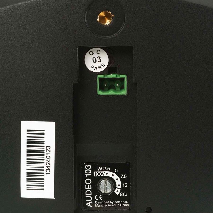 Ecler AUDEO103BK - Двухполосная настенная акустическая система 3.5'', 25–50 Вт/8 Ом, 15 Вт – 100 В