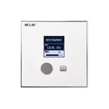 Ecler eMCONTROL1 - 1-кнопочный настенный контроллер с плавной регулировкой и LCD-экраном