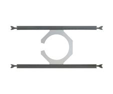 Ecler IC-TB6 - Крепление для установки акустической системы IC6 в модульный потолок