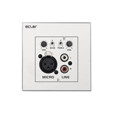 Ecler WPaMIX-T - Настенная панель, 2-канальный микшер Line (2xRCA) и Mic (XLR) сигналов