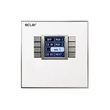Ecler WPNET8K - 8-кнопочный настенный контроллер с LCD-экраном для EclerNet