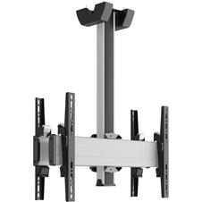 Vogels C0864 Dual Silver - Потолочное крепление для 2 дисплеев диагональю 39–65'' («спина-к-спине»), длина штанги 800 мм, макс. нагрузка 160 кг
