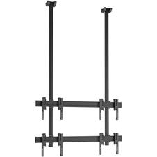 Vogels C1230 Black - Потолочное крепление для видеостены 2х2 из дисплеев 42–55'', макс. нагрузка 160 кг
