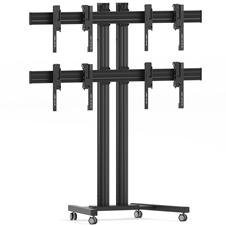 Vogels FT2264 Black - Напольный мобильный стенд для видеостены 2х2 из дисплеев диагональю 40–46'', альбомная ориентация, макс. нагрузка 148 кг