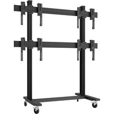 Vogels FTB2264 Black - Напольный мобильный стенд для видеостены 2х2 из дисплеев диагональю 49–55'', альбомная ориентация, макс. нагрузка 320 кг