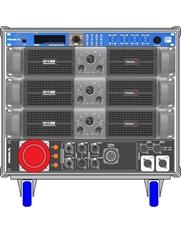 Axiom AXRACKM1 - Главный рэковый шкаф 9U с тремя усилителями HPX8000, процессором и панелью MDISTRO03
