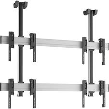 Vogels C2215 Silver - Потолочное крепление для видеостены 2х2 из дисплеев 42–55'', макс. нагрузка 160 кг