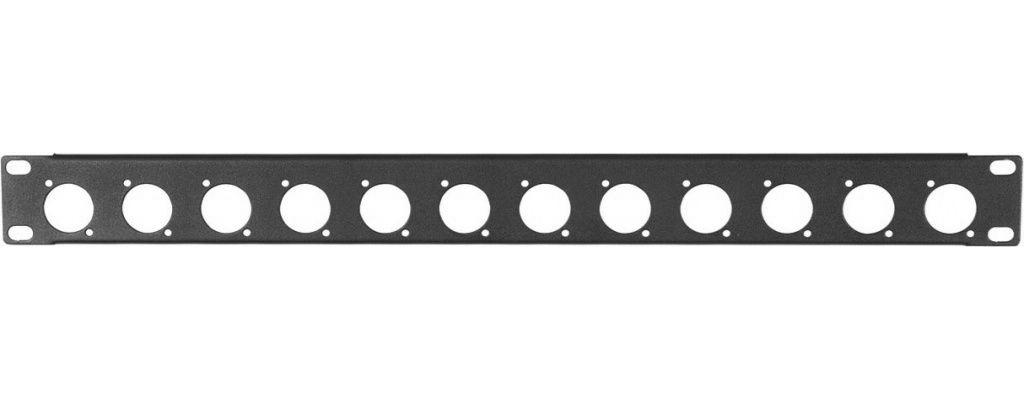 Proel RK12N - 19'' рэковая панель высотой 1U, 12 отверстий D-size