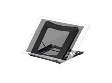 ErgoFount BS-01 - Складная настольная подставка для ноутбука или планшета до 5 кг диагональю 10–15'', черная