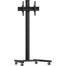 Vogels T1864 Black - Напольный мобильный стенд для дисплея диагональю 39–55'', VESA до 400x400 мм, макс. нагрузка 80 кг