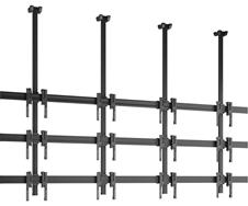 Vogels C3430 Black - Потолочное крепление для видеостены 3х4 из дисплеев 49–55'', макс. нагрузка 312 кг