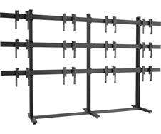 Vogels F3464 Black - Напольный стационарный стенд для видеостены 3х4 из дисплеев диагональю 49–55'', альбомная ориентация, макс. нагрузка 720 кг