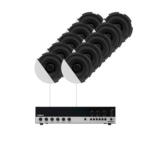 Audac CANTO7.10P - Комплект из АС и усилителя: 10xCIRA524 + COM12MK2
