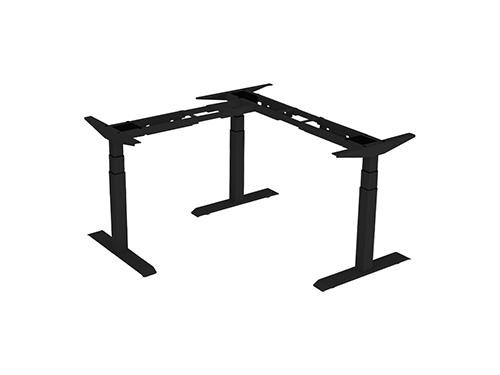 ErgoFount BSSD-L10-90/33 - Основание стола для работы стоя и сидя, L-образное 90°, с электроприводом на телескопических опорах 600–1230 мм, макс. нагрузка 150 кг