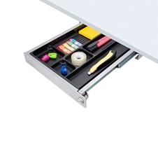 ErgoFount PTN3234-L - Выдвижной ящик-органайзер с замком для канцелярских принадлежностей под стол, средний