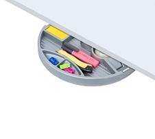 ErgoFount PTR2820 - Вращающийся ящик-органайзер для канцелярских принадлежностей под стол, 4 отделения и диспенсер