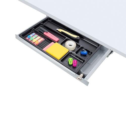 ErgoFount PTS4324-L - Выдвижной ящик-органайзер с замком для канцелярских принадлежностей под стол, средний