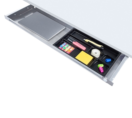 ErgoFount PTS8725 - Выдвижной ящик-органайзер для канцелярских принадлежностей и ноутбука под стол, большой