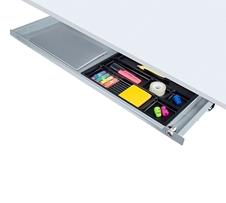 ErgoFount PTS8725-L - Выдвижной ящик-органайзер с замком для канцелярских принадлежностей и ноутбука под стол, большой