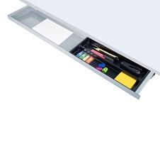 ErgoFount PTU8718 - Выдвижной ящик-органайзер для канцелярских принадлежностей под стол, большой, неглубокий