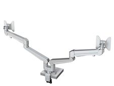 Kondator 438-LC52 - Настольный шарнирный кронштейн серии STOCKHOLM для 2 мониторов (1x2) с газопружинным амортизатором, макс. нагрузка 16 кг, струбцина или зажим