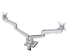 Kondator 438-LC57 - Настольный шарнирный кронштейн серии STOCKHOLM для 2 мониторов с газопружинным амортизатором, макс. нагрузка 28 кг, струбцина или зажим