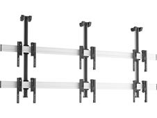 Vogels C2315 Silver - Потолочное крепление для видеостены 2х3 из дисплеев 49–55'', макс. нагрузка 240 кг