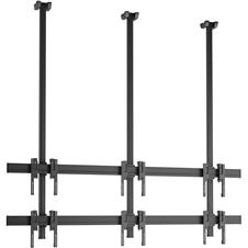 Vogels C2330 Black - Потолочное крепление для видеостены 2х3 из дисплеев 49–55'', макс. нагрузка 240 кг