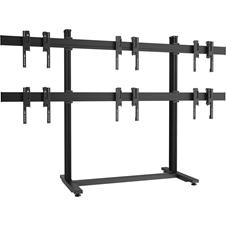 Vogels F2344 Black - Напольный стационарный стенд для видеостены 2х3 из дисплеев диагональю 49–55'', альбомная ориентация, макс. нагрузка 324 кг