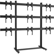Vogels F3344 Black - Напольный стационарный стенд для видеостены 3х3 из дисплеев диагональю 49–55'', альбомная ориентация, макс. нагрузка 405 кг