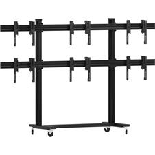 Vogels FT2344 Black - Напольный мобильный стенд для видеостены 2х3 из дисплеев диагональю 49–55'', альбомная ориентация, макс. нагрузка 324 кг