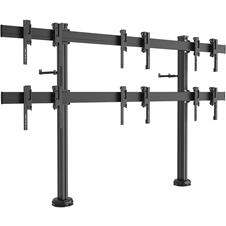 Vogels FF2344 Black - Напольный стенд для видеостены 2х3 из дисплеев диагональю 49–55'' с фиксацией к полу, альбомная ориентация, макс. нагрузка 324 кг