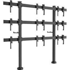 Vogels FF3344 Black - Напольный стенд для видеостены 3х3 из дисплеев диагональю 49–55'' с фиксацией к полу, альбомная ориентация, макс. нагрузка 396 кг