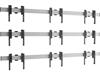 Vogels W3344 Silver - Комплект настенного крепления для видеостены 3х3 из дисплеев диагональю 49–55'', альбомная ориентация, макс. нагрузка 480 кг