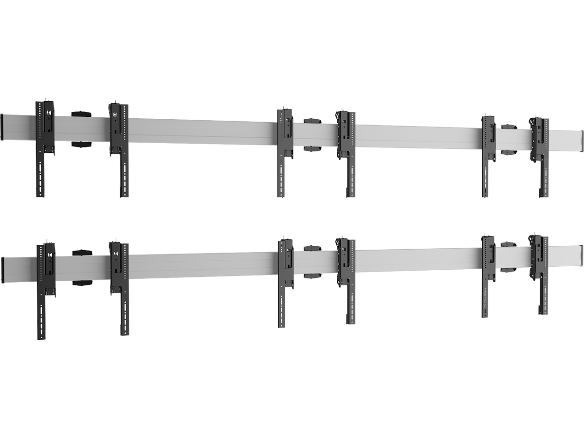 Vogels W2344 Silver - Комплект настенного крепления для видеостены 2х3 из дисплеев диагональю 49–55'', альбомная ориентация, макс. нагрузка 320 кг