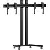 Vogels FT1264 Black - Напольный мобильный стенд для видеостены 1х2 из дисплеев диагональю 42–55'', альбомная ориентация, макс. нагрузка 160 кг