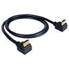 Kramer C-HM/RA2 - Высокоскоростной кабель HDMI 4K/60 (4:4:4) и Ethernet (вилка-вилка), угловые разъемы