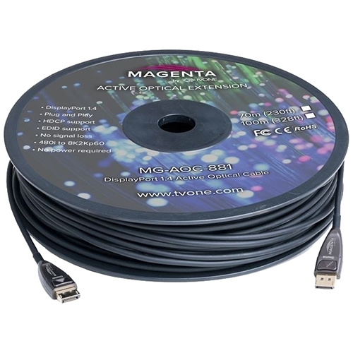 tvONE MG-AOC-881 - Кабель DisplayPort 1.4 HBR3 гибридный (вилка-вилка)