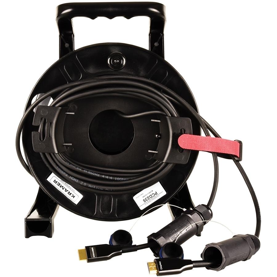 Kramer CRS-PlugNView-H-98 - Активный малодымный армированный оптический кабель HDMI 4K/60 (4:4:4)