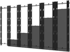 Peerless-AV DS-LEDBXT-6X6 - Монтажный комплект для установки видеостены из панелей серии Barco XT в конфигурации 6x6
