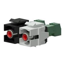 Procab VCK105P - Вставка-переходник Keystone RCA – клеммный блок