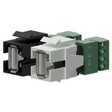 Procab VCK625 - Вставка-переходник Keystone USB 2.0 тип A – клеммный блок