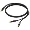 Procab PRA711 - Аудиокабель miniJack 3,5 мм стерео (вилка) – 2х RCA (вилка), гибкий, UltraFlex™
